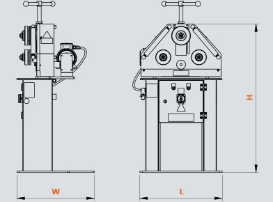 PK-30 Hidrolik Boru ve Profil Kıvırma, Hydraulic Profile and Pipe Bending ölçü