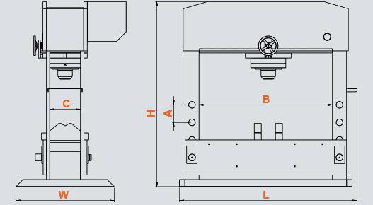 DK Gezer Piston Motorlu Presler (Ağır Tip), Mobile Piston Motorized Presses (Heavy Duty)