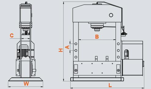 DPM 100-150 Ton Sabit Piston Motorlu Pres, Fixed Piston Motorized Press