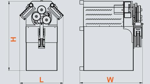 PK-40 Hidrolik Boru ve Profil Kıvırma, Hydraulic Profile and Pipe Bending ölçü