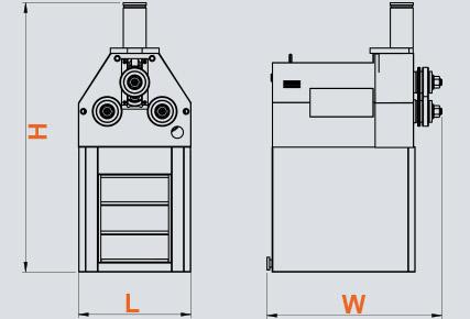 PK-50 Hidrolik Boru ve Profil Kıvırma, Hydraulic Profile and Pipe Bending ölçü