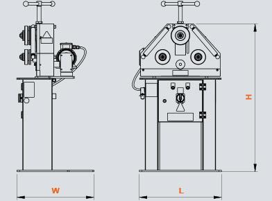 PK-30 Hidrolik Boru ve Profil Kıvırma, Hydraulic Profile and Pipe Bending ölçü
